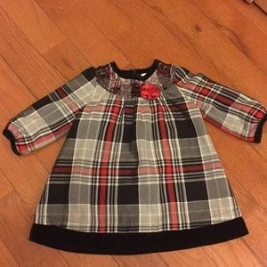 Hanna Andersson plaid dress. Size 80/2T